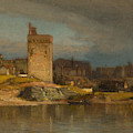 Old Tower At Avignon by Samuel Colman