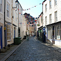 old town street in Hexham by Victor Lord Denovan