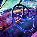 Old Truck Steering Wheel by Garry Gay