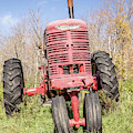 Old Vintage Farm Tractor Warm Color by Edward Fielding