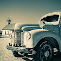 Old Vintage Fire Truck Ghost Town by Edward Fielding