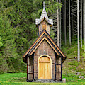 Old Wooden Chapel by Les Palenik