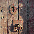 Old Wooden Door And Keyhole by Victor Lord Denovan