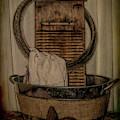 Old Wooden Washboard by Pamela Walton