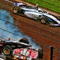 Oliver Askew Drives By Chris Windom And David Malukas Crash Indy Lights by Blake Richards