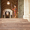 On Guard At The Vatican by Jacqui Boonstra