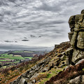 On The Edge At Curbar Edge by Scott Lyons
