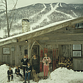 On The Slopes In Stowe by Slim Aarons