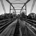 One Lane Bridge At War Eagle Mill - Monochrome by Gregory Ballos