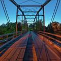 One Lane Steel Bridge Over War Eagle Creek by Gregory Ballos