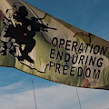 Operation Enduring Freedom Flag Blowing In The Breeze by Chris Flees
