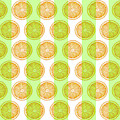 Orange Slice Pattern 2 - Tropical Pattern - Tropical Print - Lemon - Orange - Fruit - Tangerine by Studio Grafiikka