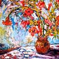 Orange Trumpet Flowers by Kendall Kessler