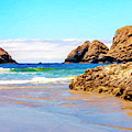 Oregon Coast - Seascape - Oceanside by David Millenheft