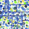 Organic Polka Dots Blocks Abstract Watercolor by Irina Sztukowski