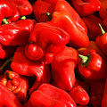 Organic Red Peppers by Olivier Le Queinec
