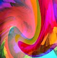 Original Fine Art Digital Abstract Warp10c Scaled Red. by G Linsenmayer