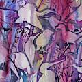 Original Watercolor - Abstract Bird Design by Cascade Colors