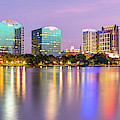Orlando Skyline Panoramic From Lake Eola Park by Gregory Ballos