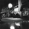 Outside The Cedar Street Tavern by Fred W. McDarrah