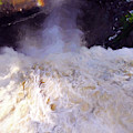 Over The Edge At Montmorency Falls by Amy Dundon