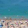 Overhead Of Rhodes Main Beach by Holger Leue