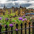 Overlooking The Train Station In Edinburgh by Debra and Dave Vanderlaan