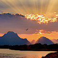 Oxbow Sunset by Mary Hone