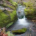 Ozark Mountain Waterfall - Vertical Panoramic Arkansas Landscape by Gregory Ballos