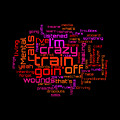 Ozzy Osbourne - Crazy Train Lyrical Cloud by Susan Maxwell Schmidt