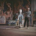 Pablo Picasso At Work by Paul Popper/popperfoto