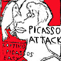 Pablo Picasso Attack 5 by Artist Dot