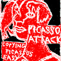 Pablo Picasso Attack 6 by Artist Dot