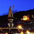 Pachacutec And Plaza De Armas Cusco Peru by James Brunker
