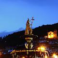 Pachacutec And San Cristobal Church Cusco Peru by James Brunker
