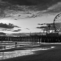 Pacific Park - Black And White by Gene Parks