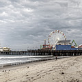 Pacific Park On The Pier-desaturated by Gene Parks