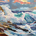 Pacific Storm by David Lloyd Glover