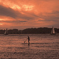 Paddleboarding On The Great Peconic Bay by Jeff Breiman