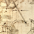 Page From The Codex Atlanticus by Leonardo Da Vinci