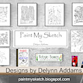 Paint My Sketch By Delynn Addams by Delynn Addams