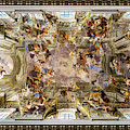 Painted Ceiling Of The Church Of Saint Ignatius Of Loyola by Weston Westmoreland