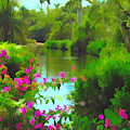 Painted Tropical Lake by Rosalie Scanlon