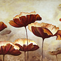 Painting Poppies With Texture by Mauricio Graiki
