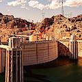 Panorama Of Hoover Dam Black Canyon And Colorado River - Nevada Arizona Mojave Desert by Silvio Ligutti