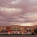 Panorama Of Ominous Storm Clouds Over Lake Las Vegas - Henderson Nevada  by Silvio Ligutti