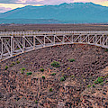 Panorama Of The Rio Grande Del Norte Gorge Bridge And Sangre De Cristo Mountains - Taos New Mexico by Silvio Ligutti