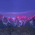 Panoramic Dawn Alpenglow Mount Whitney Eastern Sierras by Dave Welling