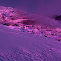 Panoramic Dawn Alpenglow On Minerva Springs Yellowston by Dave Welling