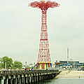 Parachute Jump At Coney Island, New York by Ryan Mcvay